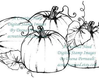 INSTANT Download Digital Stamp Image PUMPKIN PATCH
