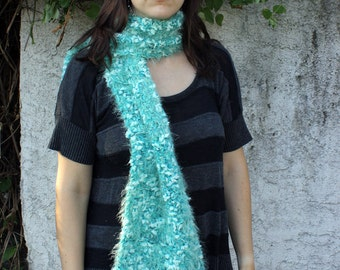 Mint Green Scarf - The Seafoam Scarf - Womens Shawl - Ladies Knit Scarf with Fringe READY to SHIP