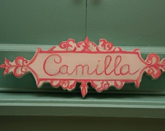 Custom Hand crafted Hand Painted Wooden Door Name Signs