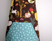 Wee Woodland Brown and Teal Full Apron