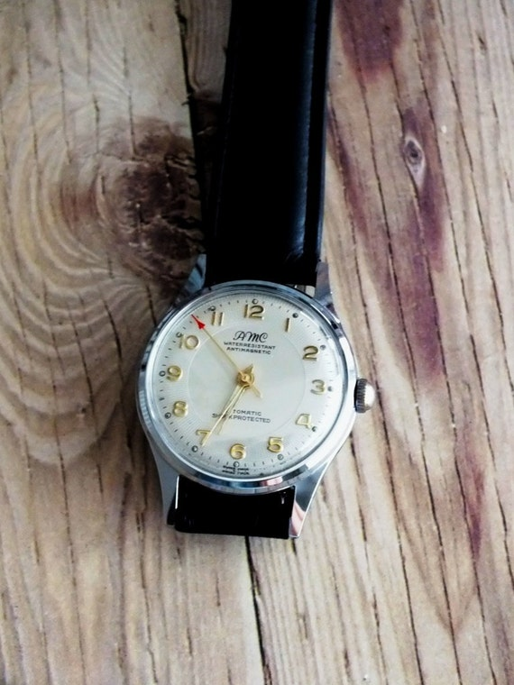 Look Up Number >> Vintage Swiss Made AMC Wrist Watch by avintageobsession on