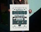 Lowrider Typographic 500x700mm handpulled Print