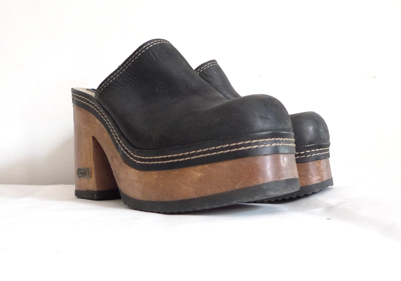 sale black platform shoes 4 inch heel sandals club kid