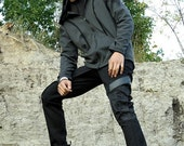 Surplus cyberpunk, tailored men's pants by Plastik Wrap.