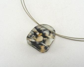 Pebbles Perspex Pendant, Jessica Sherriff, Handmade Seaside Jewelry