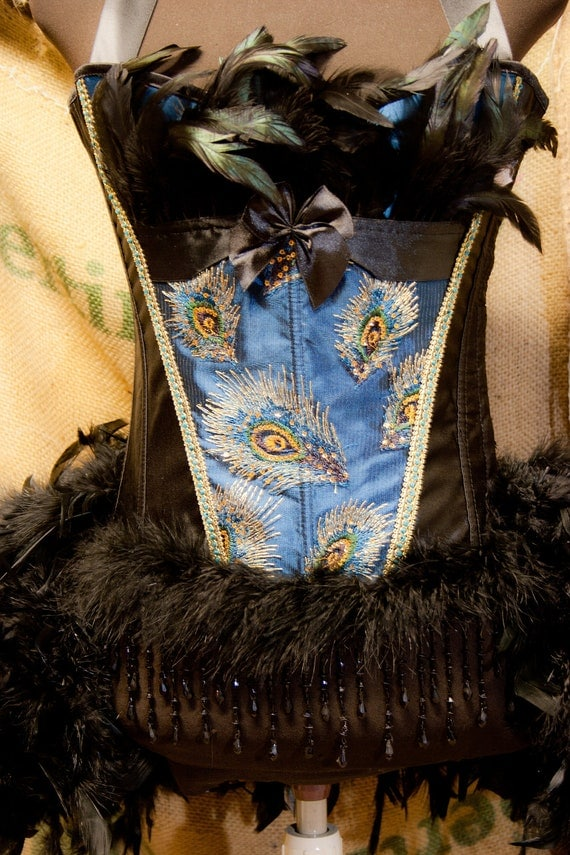 Peacock Blue Burlesque Costume
