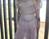 Vintage Arlene Airess 1950's Pink Girls Dress with ruffles