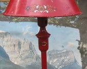 Vintage Metal Lamp with Metal Shade - A Fixer Upper