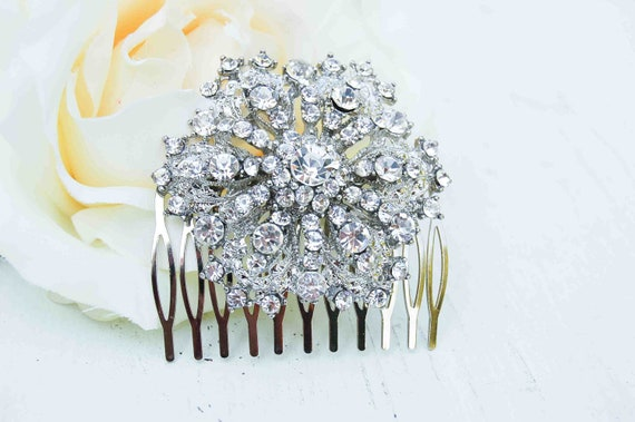 Rhinestone Hair Comb Wedding Bridal Romantic Snowflake Rhinestone