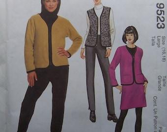 Vest, Jacket, Pants & Skirt - Misses - McCall's 9523 UNCUT Pattern