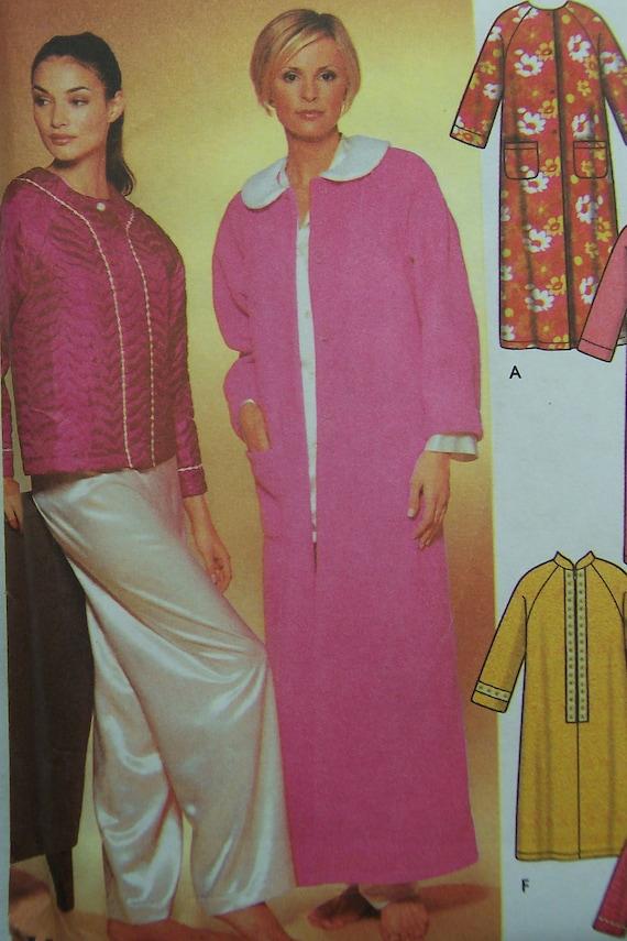 Robe & Bed Jacket - Misses - Simplicity 7018 Pattern - UNCUT