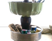 Mash-Ups TM  Kitchen or Craft/Desk Organizer Repurposed from Vintage Materials