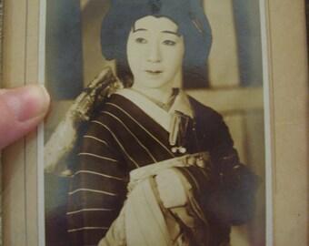 GORGEOUS Vintage Japanese Geisha Maiko RPPC Kabuki Postcard