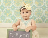 Rustic Chalkboard Sign Toddler Photo Prop Distressed Finish