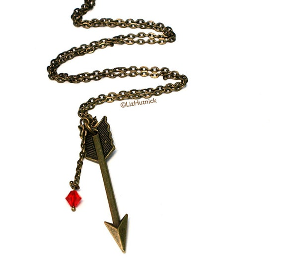 FREE SHIPPING. Clearance SALE Arrow Necklace