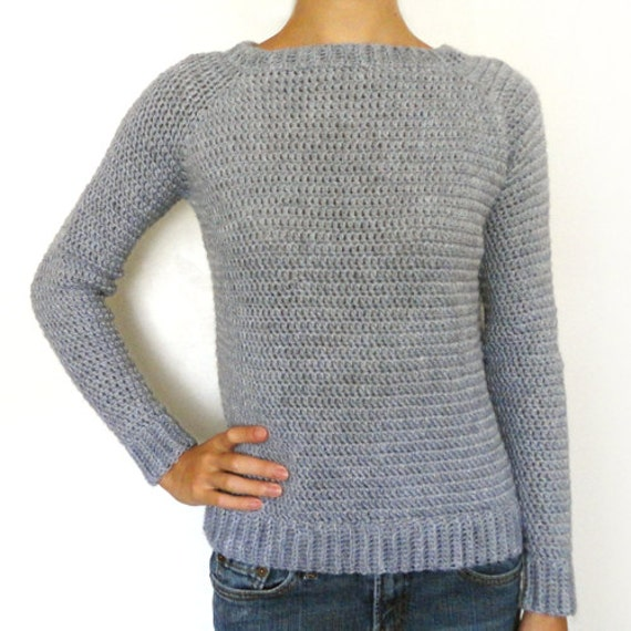 Free Crochet Patterns Pullover Sweater : Classic Sweater 9 Sizes PDF Crochet Pattern Instant
