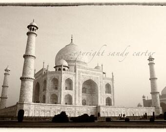 Taj Mahal in Sepia A Fine Art Photograph