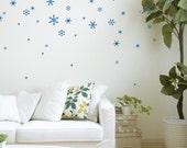 Snow Flakes - Vinyl Festive Wall Decals- set of 41