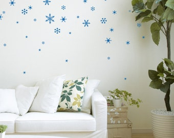 Snow Flakes - Vinyl Festive Wall Decals- set of 41