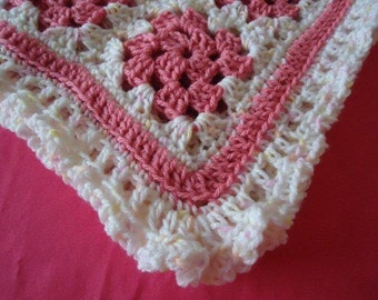 Pink is for Girls Cozy Little Afghan for Snuggling