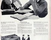 1949 ad Royal Portable Typewriter student retro high school graduate graduation gift writer author student for framing - Free U.S. shipping