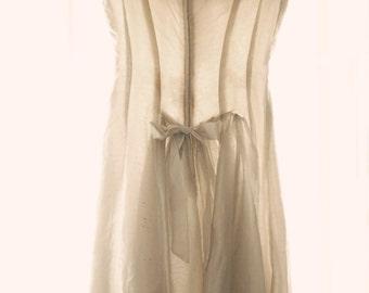 Wedding Dress Fine Art Print--Vintage Wedding Dress Ivory Bow Antique White Ethereal Dreamy Pastel Feminine Mid Century Home Decor Wholesale