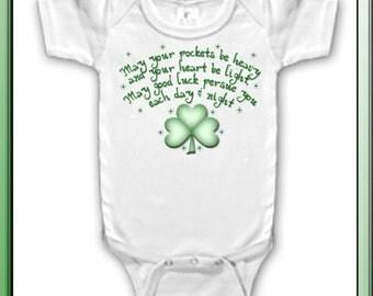 Custom Bodysuit Irish Blessing