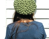 Olive Green Slouchy Tam