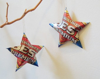 Milwaukee's Best Premium or Milwaukee's Best Light Beer Miller Can,  Recycled Beer Can Ornaments