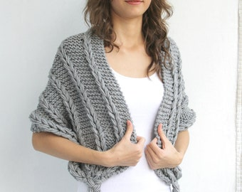 Gray Shawl  Christmas Gift UNDER 75USD For Her // For Mothers // For Bridal