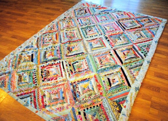RESERVED allyKinterior ----- Beautiful Vintage 60s Patchwork Quilt