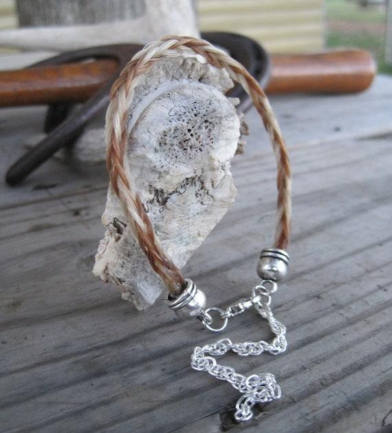 Braided Horsehair Bracelet - Palomino/Sorrel Horse Hair 6MM
