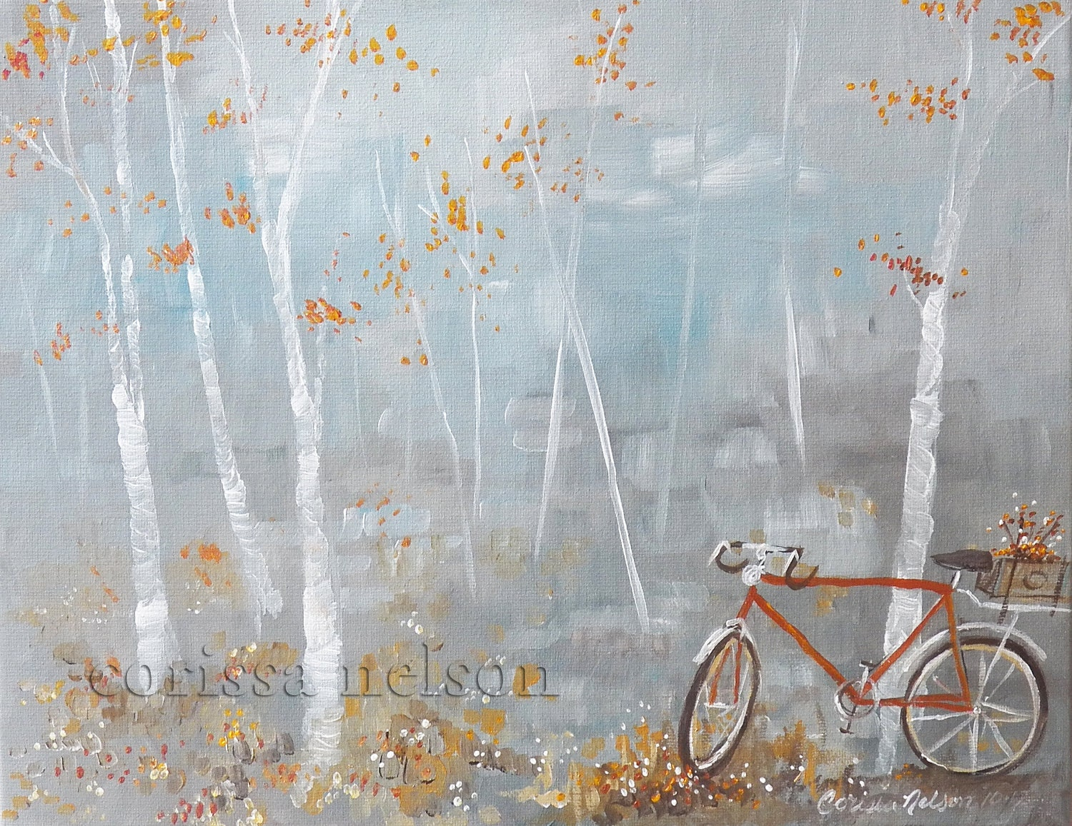 Vintage bicycle painting original art on canvas for Bicycle painting near me