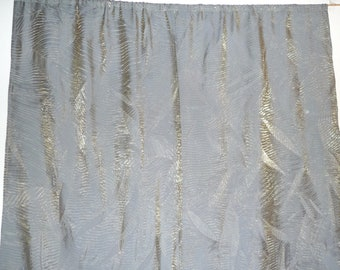 Pair - Curtain Panels - Sage Green - Table Runner - Holiday - Sparkle - CHAMELEON - Hand Made - Zen - Shimmer Crinkle -  Woodland - UNIQUE