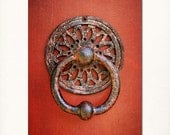 "Red Door with Knocker Photograph, 8""x10"" Affordable Fine Art Print. - Briole"
