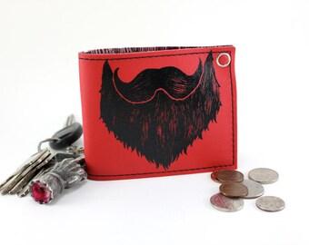 ON SALE - Weird Beard Billfold Wallet - Rascal Red - Last one!