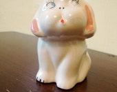 Sweet Ceramic Puppy Planter, Sponge Holder or Trinket Stash
