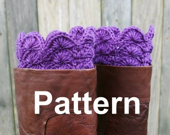 Crochet Pattern Boot Cuffs Boot Toppers Instant Download