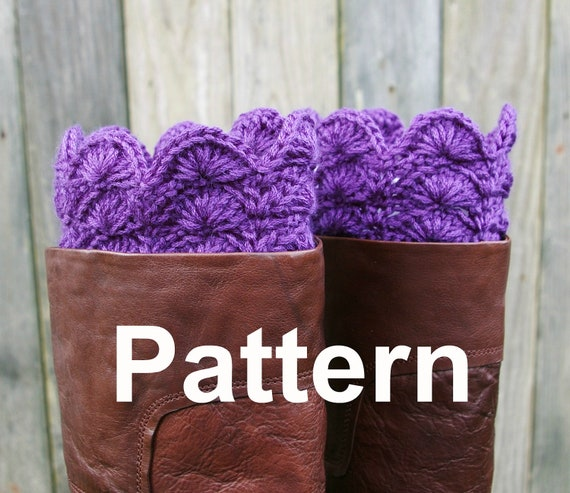 Free Knitting Patterns For Boot Toppers : Crochet Pattern PDF Boot Toppers Boot Cuffs by CandacesCloset