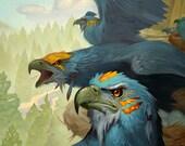 Eagle Tribe - Print of original oil painted illustration