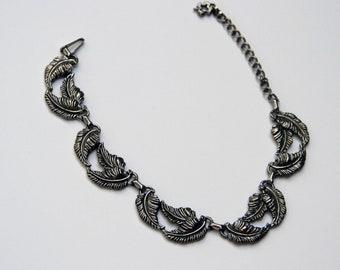 Vintage Danecraft Falling Leaf Necklace