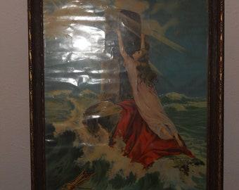 """Vintage Print titled """"Rock of Ages"""""""
