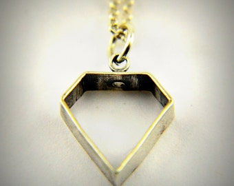 Sterling Silver Open Diamond Necklace  - Gwen Delicious Jewelry Designs