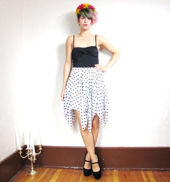 Polka Dot Hankerchief Skirt (Xs/S)