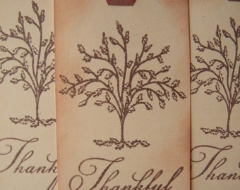 Thanksgiving Tags - Thankful - Thanksgiving Decor - Fall Tags