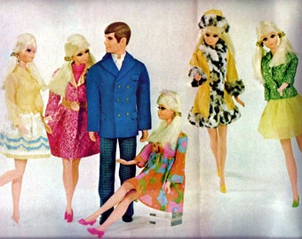 1960s Barbie Magazine Paper Ephemera Print Vintage Mid Century Marimekko Mod Print Wall Art Ad Home Decor Fashion Doll Retro Nostalgic Gift