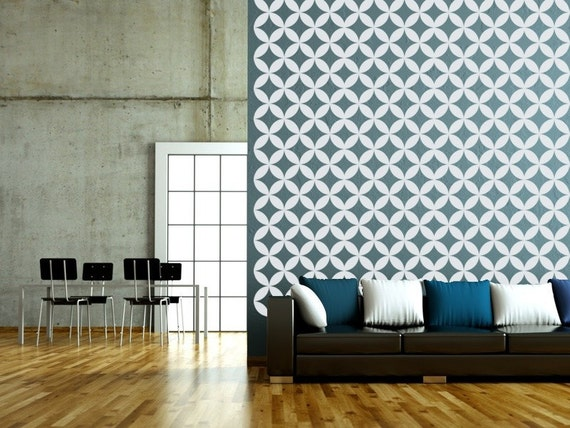 Geometric Wall Decals Lattice Wall Decal Retro By