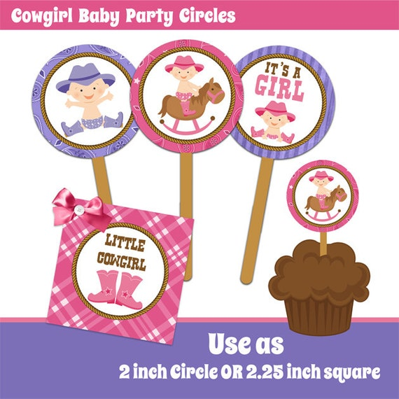 Items Similar To INSTANT DOWNLOAD Cowgirl Baby Shower