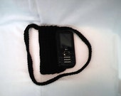 Wholesale Order For charper53 6 Black and 6 natural cross body cell phone pouches