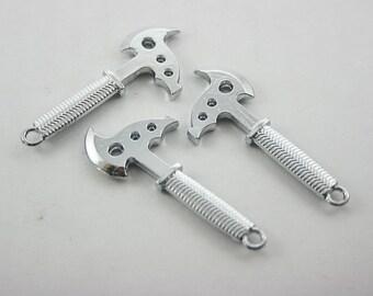 5 pcs. Zinc Silver Tone Axe Charms Pendants Decorations Findings. Axe1 SP